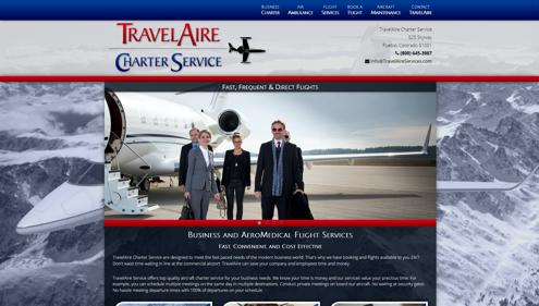 Featured website for TravelAire