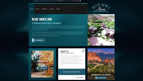 Featured website for Blue Skies Inn
