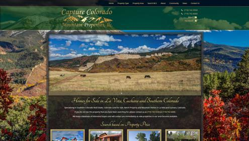 Featured website for Capture Colorado