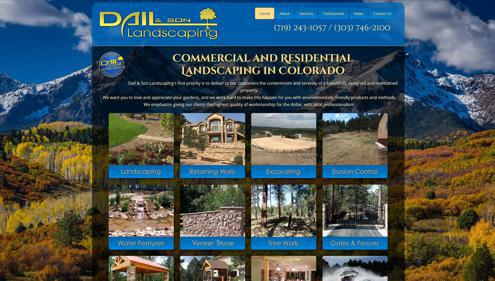 Featured website for Dail & Son Landscaping